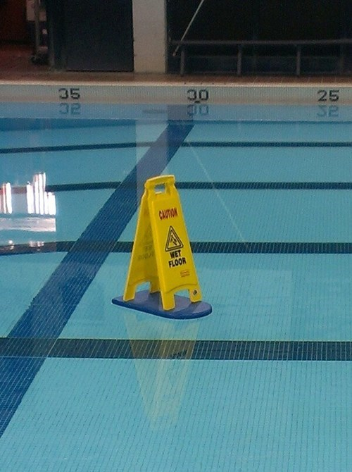 swimming pools signs wet floor there I fixed it - 8013372160