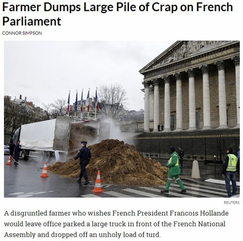 news,poop,farmers,Probably bad News,france