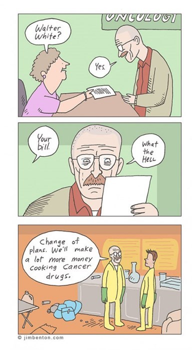 medical industry,breaking bad,money,web comics