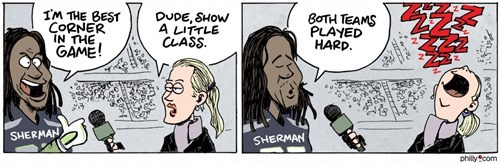 sports,nfl,interviews,richard sherman,erin andrews,football,web comics