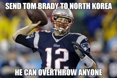 sports tom brady North Korea football