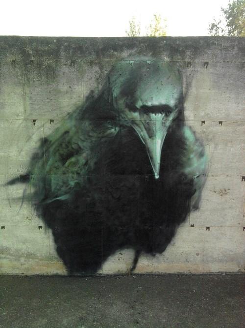 Street Art raven hacked irl - 8013662720