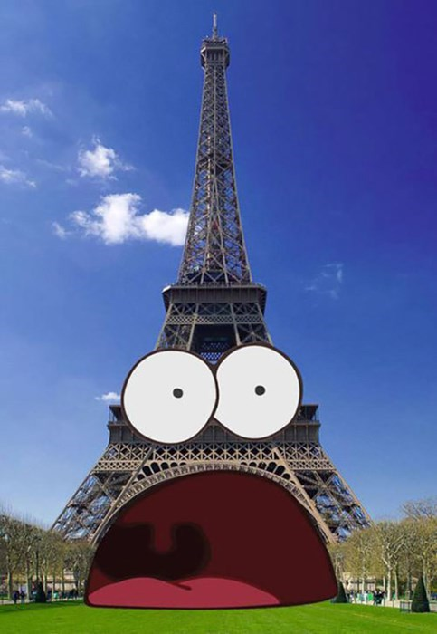 cartoons SpongeBob SquarePants eiffel tower - 8013714688