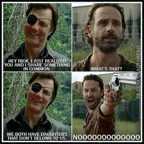 the governor,Rick Grimes,paternity test