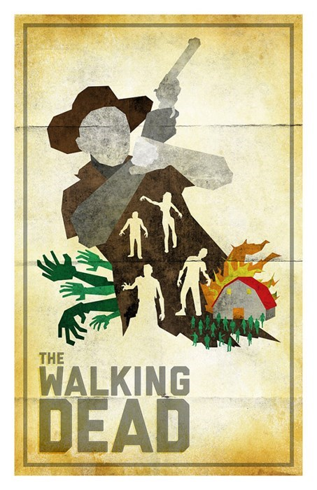 Fan Art minimalist posters The Walking Dead - 8013818368