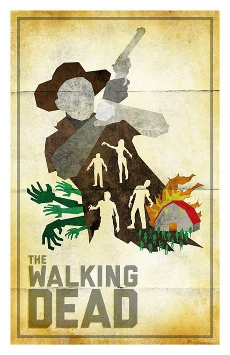 Fan Art minimalist posters The Walking Dead - 8013818368