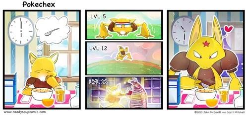 Pokémon abra spoons kadabra cereal web comics - 8013831680