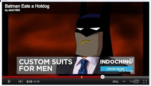 photobomb youtube ads batman - 8013918464
