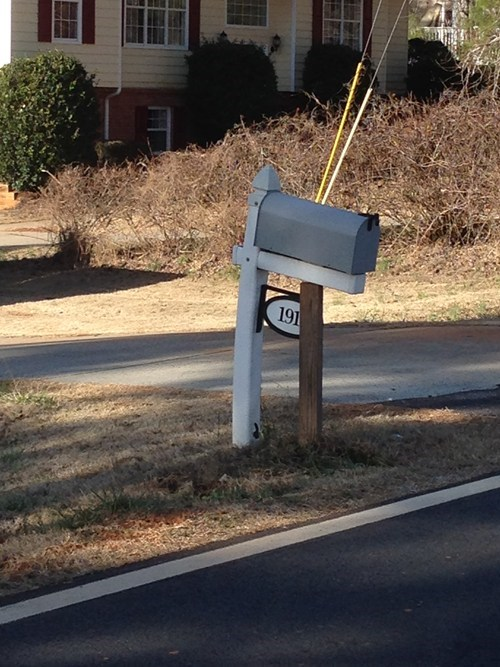 posts mailboxes there I fixed it