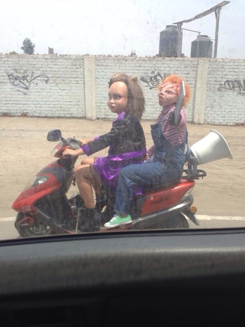 creepy,cars,driving,Chucky