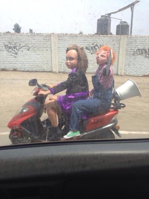 creepy cars driving Chucky - 8014011392