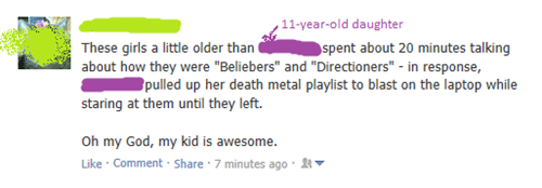 death metal metal justin bieber one direction Music parenting failbook g rated - 8014013696