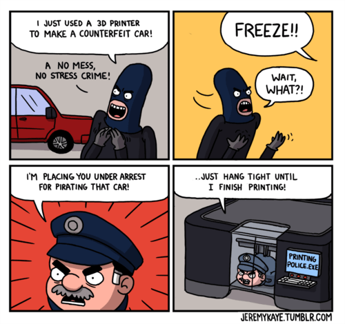 piracy cars 3d printers web comics