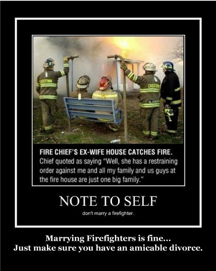 marriage firefighters divorce funny - 8014230784