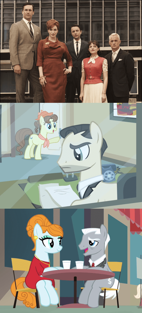 background pony manehatten mad men - 8014600448