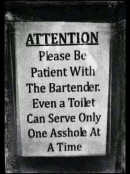 sign toilet jerks bartender funny - 8015306240