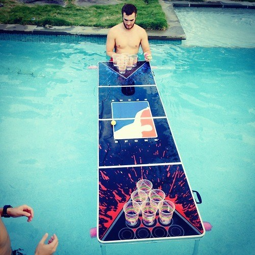 awesome pool beer pong funny - 8015310336