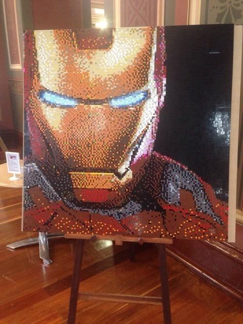 lego mosaic iron man - 8015348480