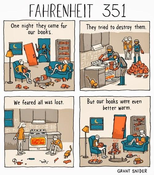 fahrenheit 451,books,web comics
