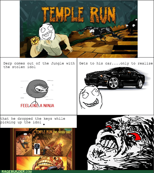 feel like a ninja,temple run,rage