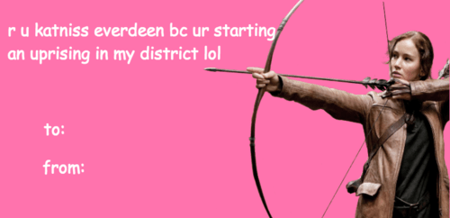 hunger games card Valentines day - 8015433216