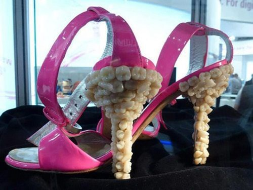 shoes fashion wtf teeth high heels