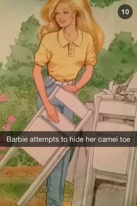 fashion snapchat Barbie camel toe - 8015554304