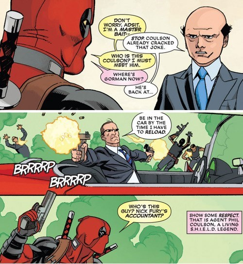 agent coulson,deadpool,off the page,agents of shield