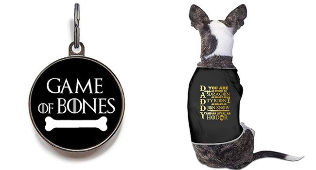 game of thrones pet accessories