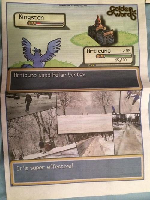 Pokémon articuno newspaper - 8015656192