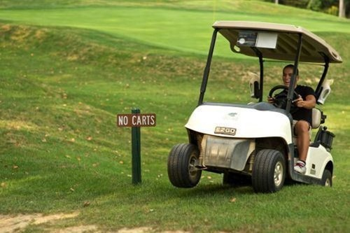 i do what i want,no carts,golf carts