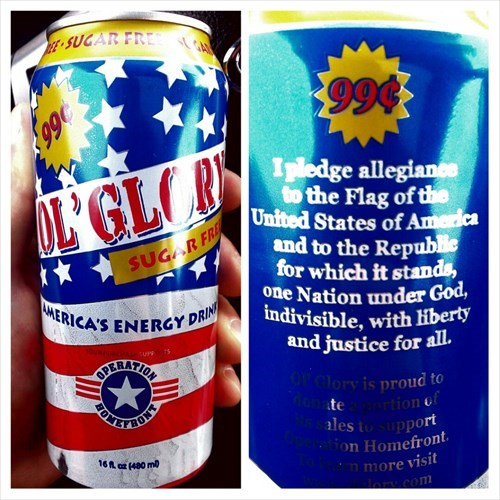 energy drinks,pledge of allegiance,murica