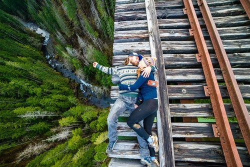 cute,couples,photo op,vertigo