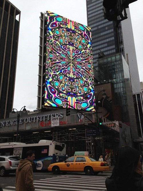 Ad,billboard,pretty colors,trippy