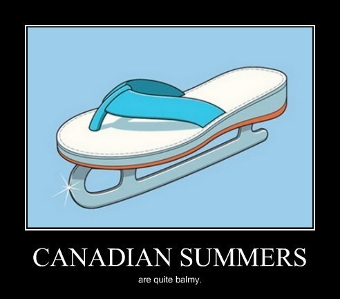 Canada cold flip flops Skates funny weather - 8015761664