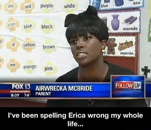 erica,misspellings,names,airwrecka