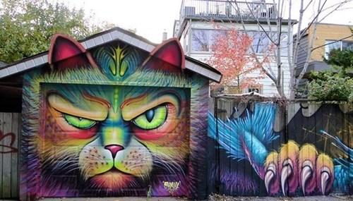 Cats Street Art hacked irl - 8015821312