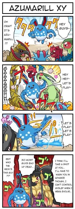 Pokémon OP web comics azumarill fairy types - 8015890176