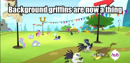 background pony,griffins,mlp season 4
