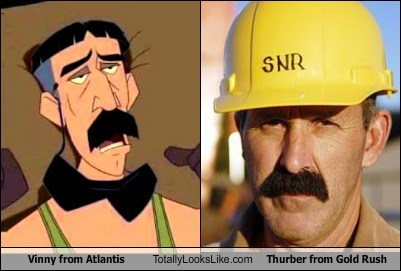 gold rush vinny atlantis totally looks like thurber