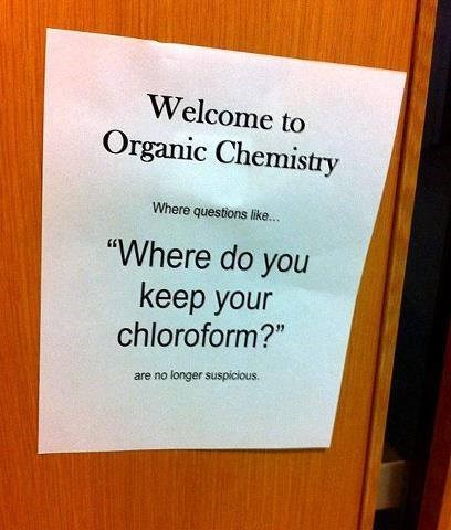 Chemistry chloroform monday thru friday