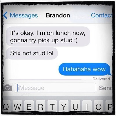 autocorrect lunch studs text - 8017070080
