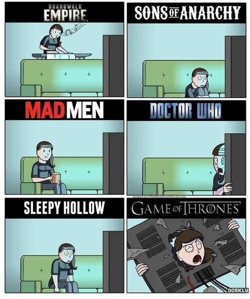doctor who Game of Thrones dorkly sleepy hollow web comics fandom problems - 8017219328