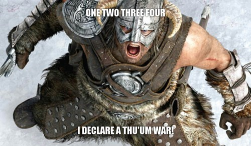 Skyrim,the elder scroll,thumb wars