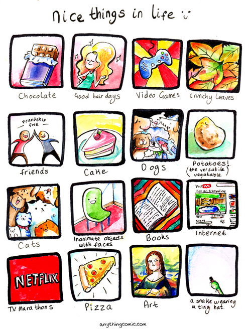 charts,netflix,pizza,web comics