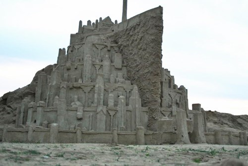 sand Lord of the Rings nerdgasm sand sculpture minas tirith g rated win - 8017428480