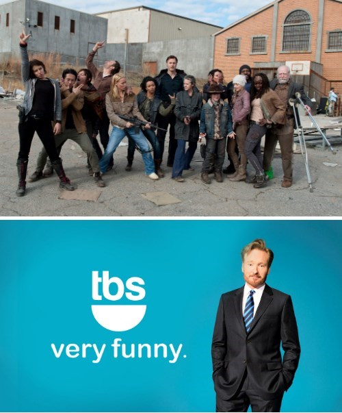 cast,conan obrien,Team Coco,The Walking Dead