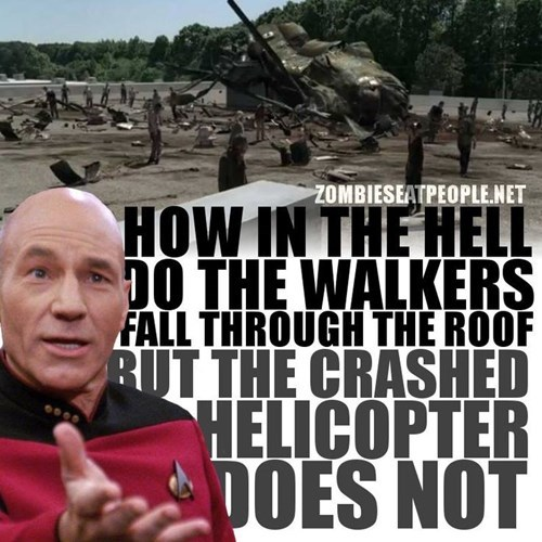 picard the walkign dead it's raining zombies
