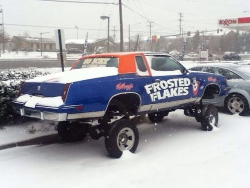 cars cereal snow frosted flakes winter - 8017508096
