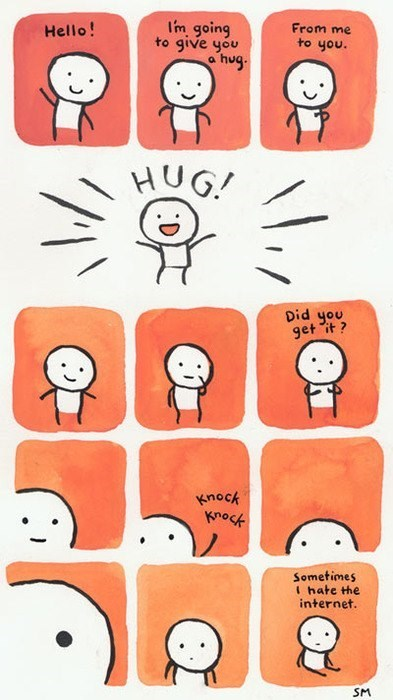 cute hugs internet web comics - 8017553664